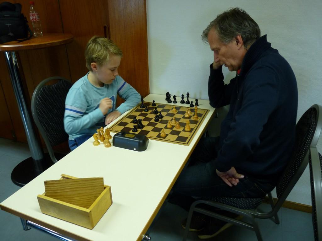 Lucas Mårtensson (Svart) och Lars-Erik Pettersson (Vit)
