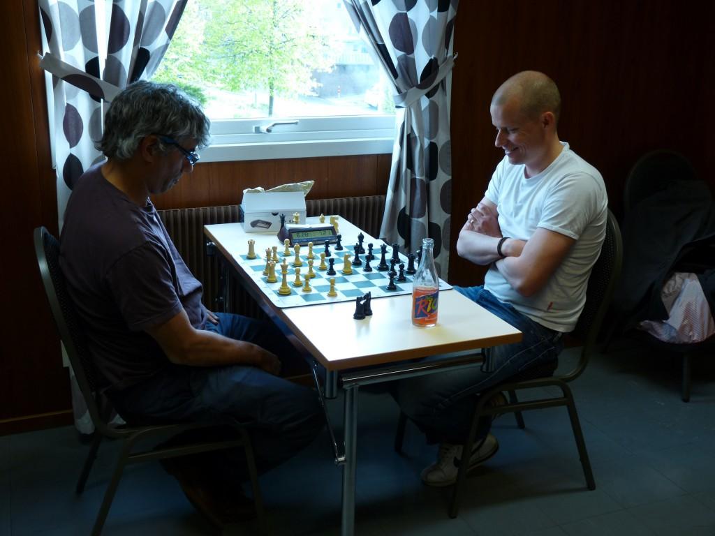 Daniel Alegi (Vit) och Marcus Ringqvist (Svart)